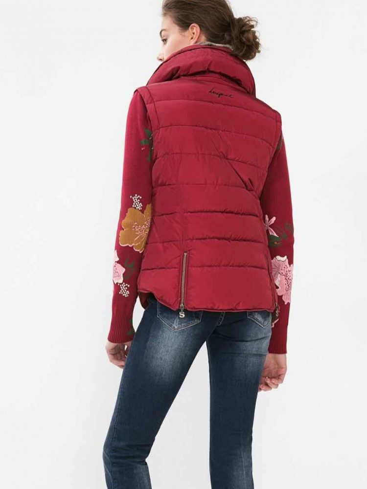 69E29D6 Desigual Red Winter Jacket, Buy Online