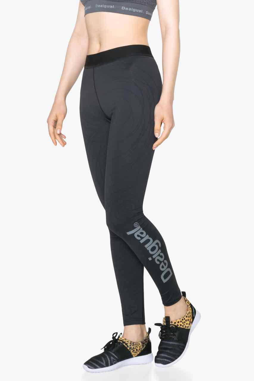71K2SA8_2000 Desigual Sport Legging Long Tight 2 Black Buy Online