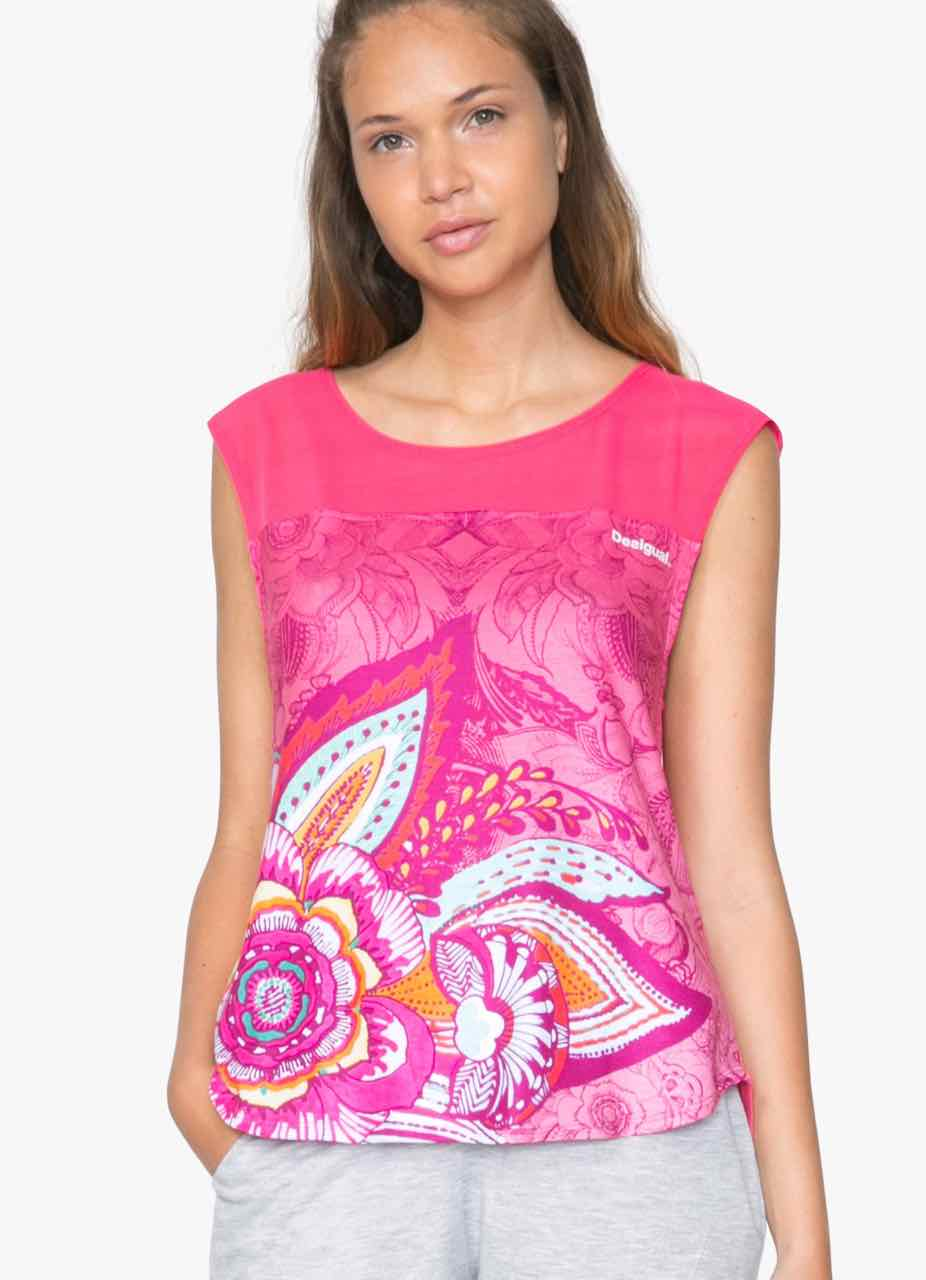 71T2SC7_3192 Desigual T-Shirt L T-S Sleeveless P Buy Online