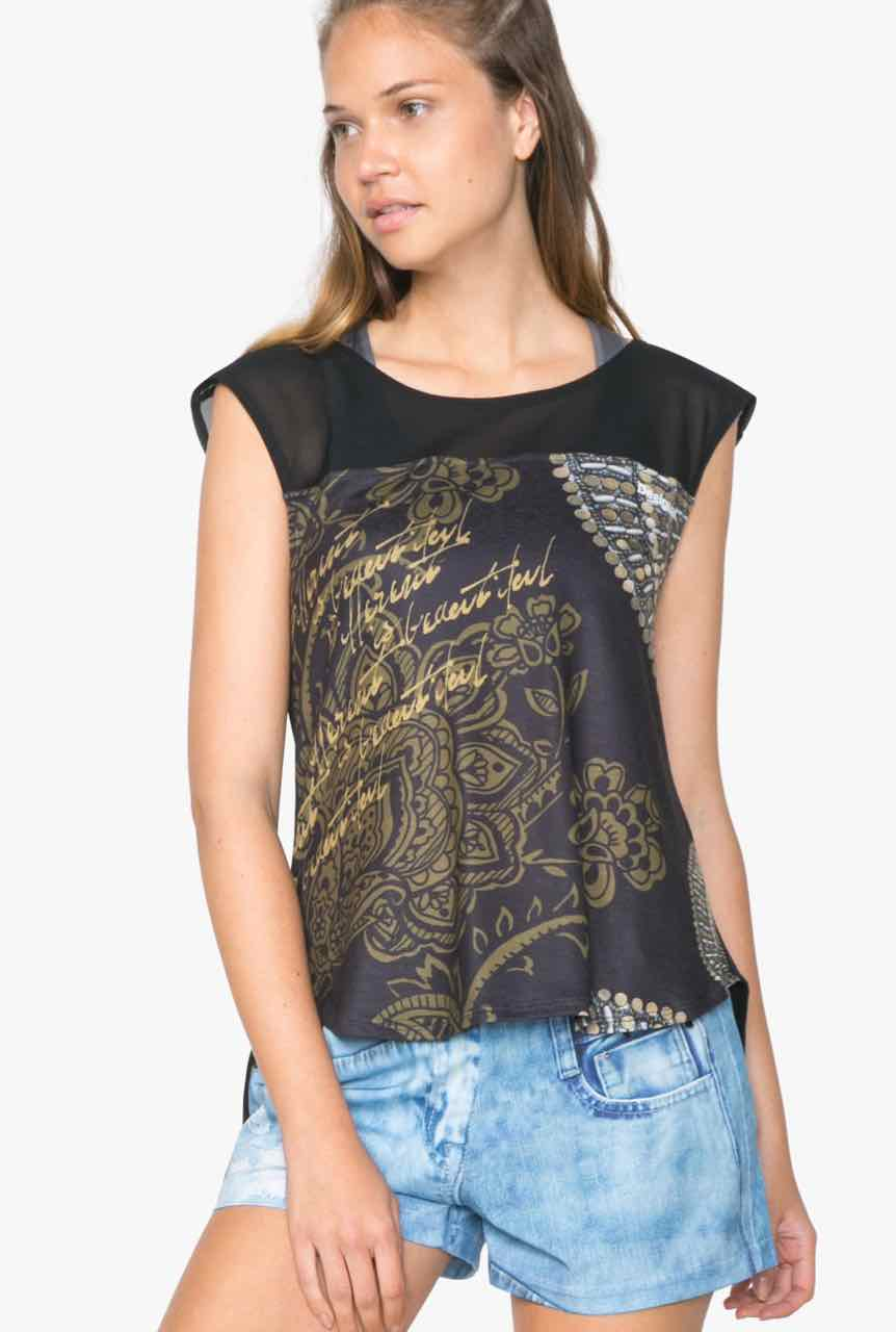 71T2SC9_2000 Desigual T-Shirt L T-S Sleeveless Y Buy Online