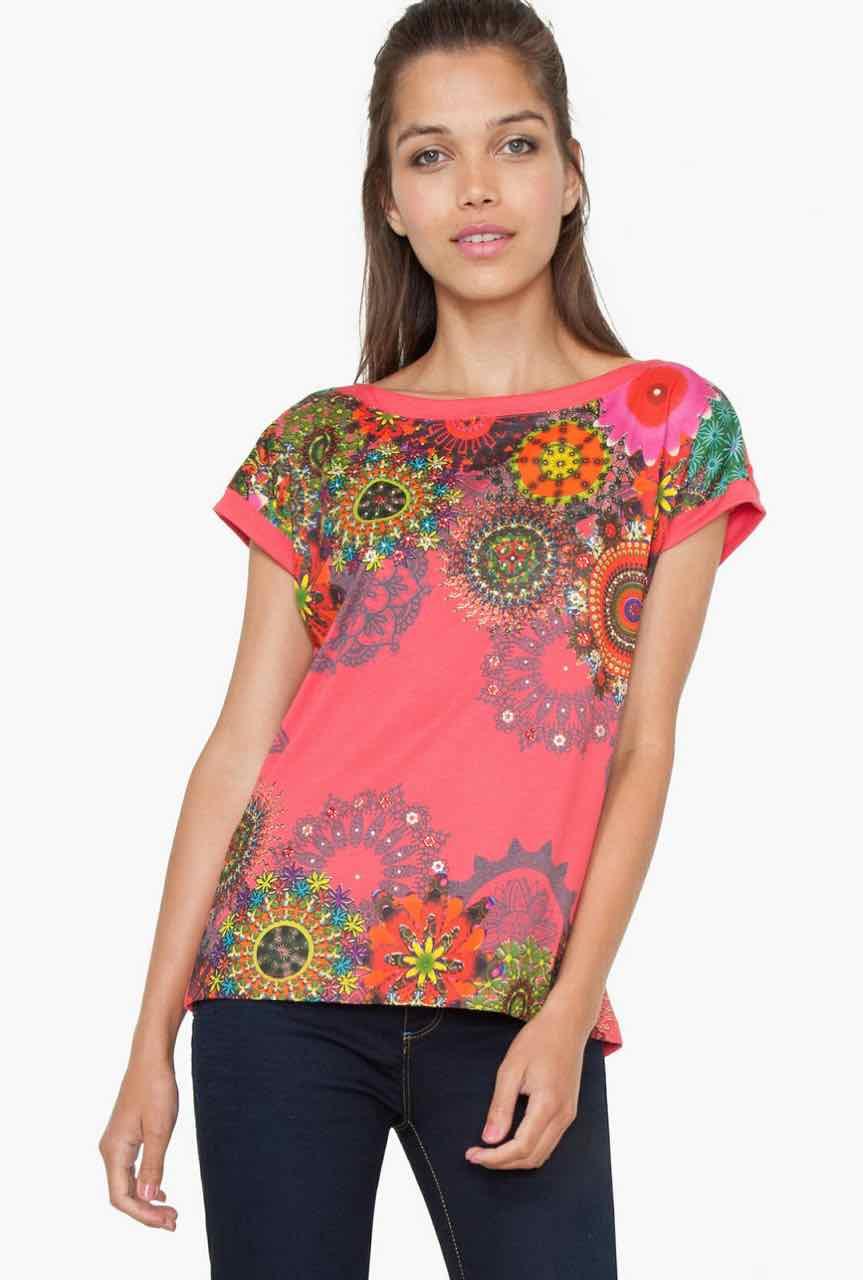 desigual t shirt arcano 73t2ec6 buy online canada us. Black Bedroom Furniture Sets. Home Design Ideas