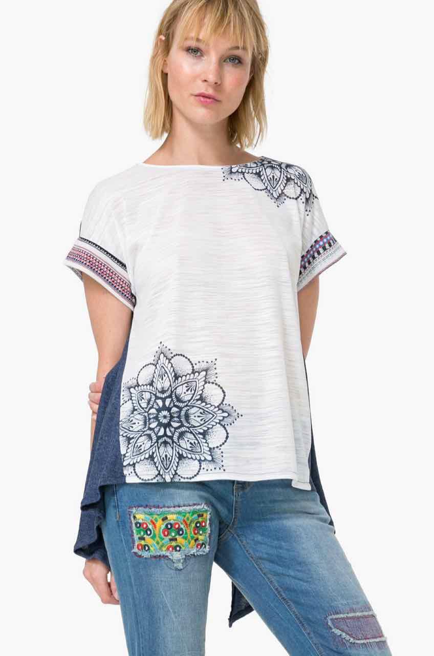 73T2YA9_5000 Desigual T-Shirt Creta Buy Online