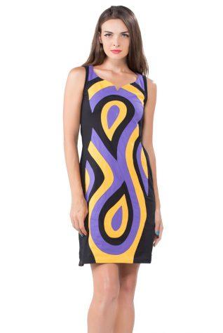 Pygmees Black Purple Yellow Dress