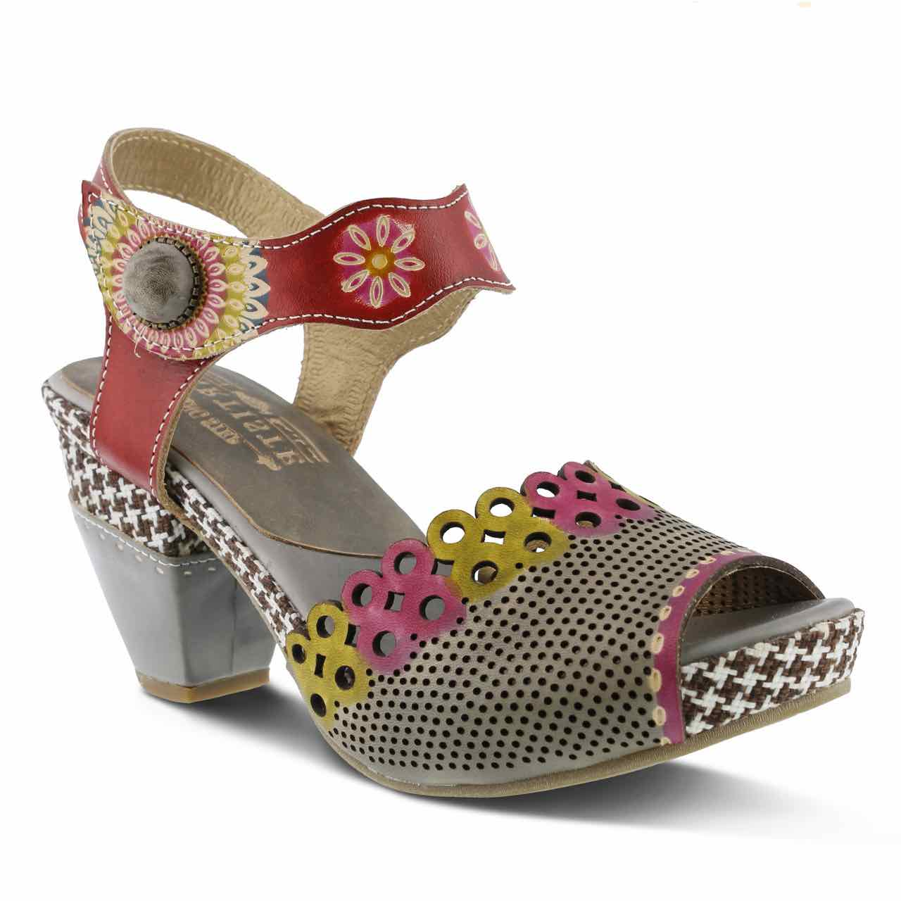 L'Artiste by Spring Step Sandals Jive, Gray