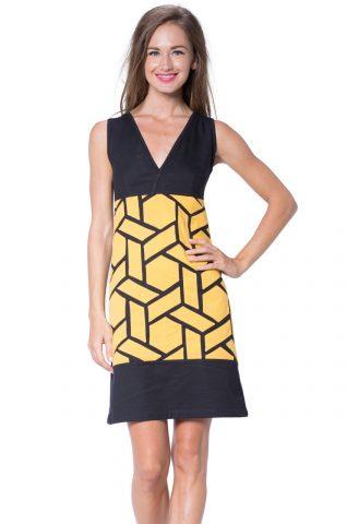 Turbowear Black Yellow Summer Dress