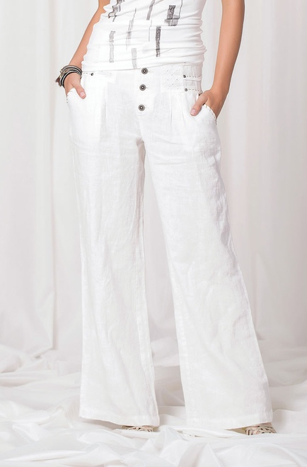 Angels Never Die Linen Summer Pants