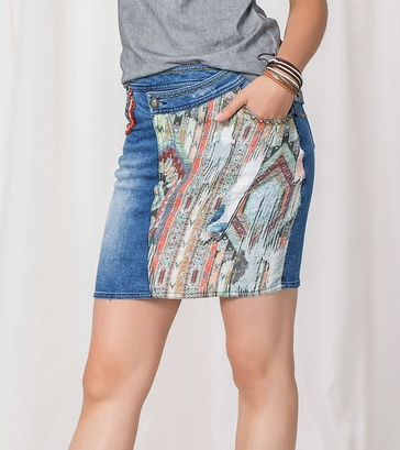 Angels Never Die Jeans Skirt