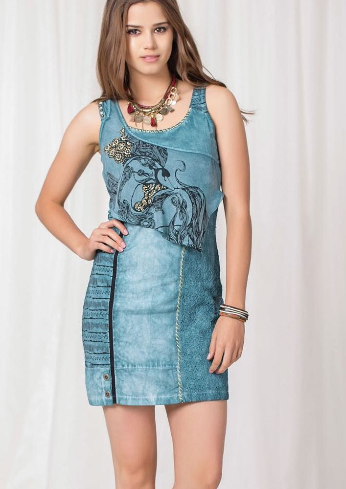 ANVRDIE Summer Dress Turquoise