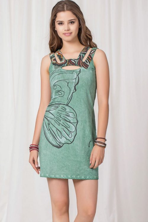 Angels Never Die Green Summer Dress