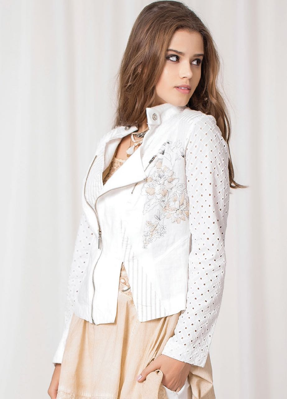 Angels Never Die White Linen Jacket