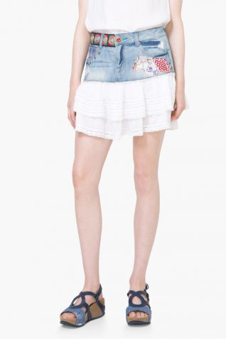 74F2JA9_5179 Desigual Denim Skirt Aurigae Buy Online