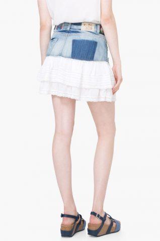 74F2JA9_5179 Desigual Denim Skirt Aurigae Canada