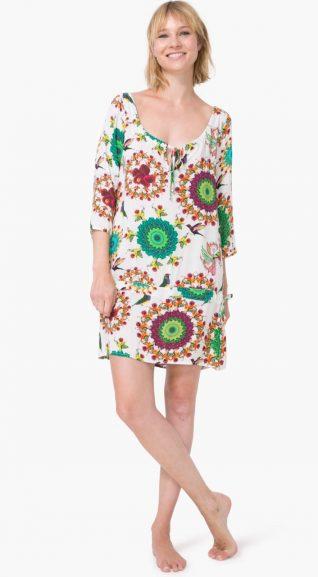 74M2WA4_1000 Desigual Beacj Dress Kaftan Gala Buy Online