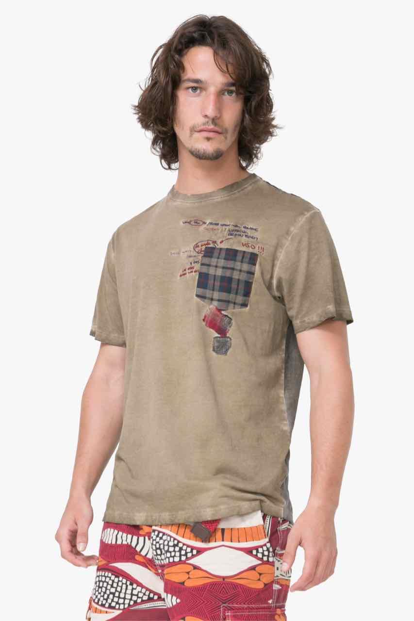 74T14A1_4155 Desigual Mens T-Shirt Javi Buy Online