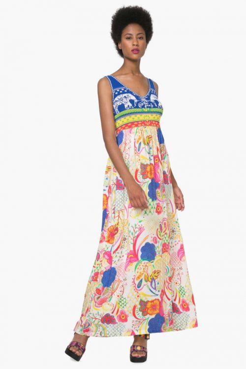 74V2EK4_5063 Desigual Summer Maxi Dress Quard Buy Online