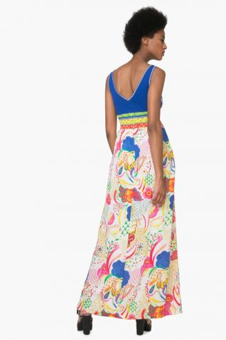 74V2EK4_5063 Desigual Summer Maxi Dress Quard Canada
