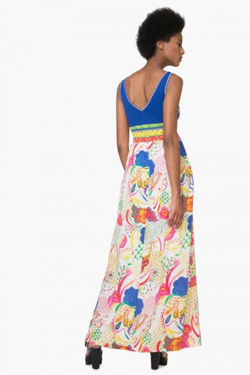 74V2EK4_5063 Desigual Summer Maxi Dress Quard Canada