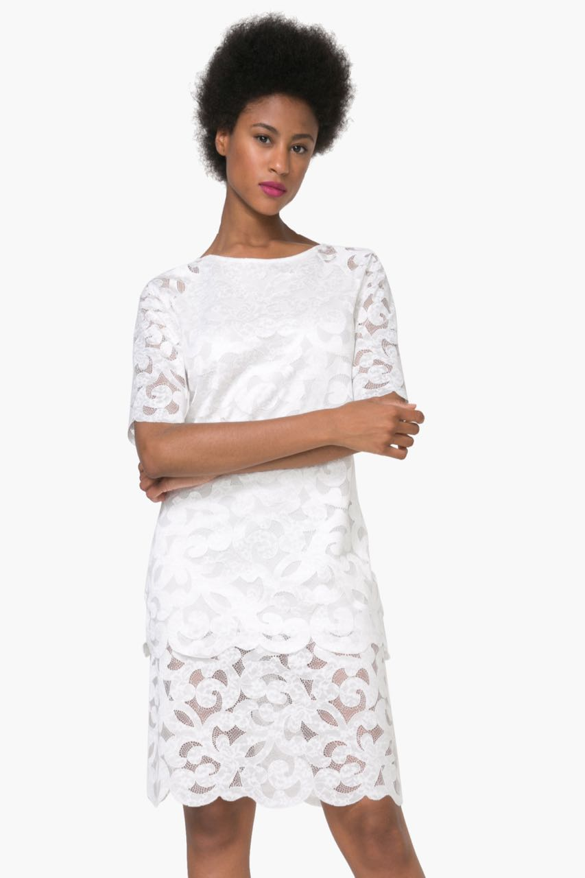 74V2WK6_1000 Desigual White Lace Dress Selsi Buy Online