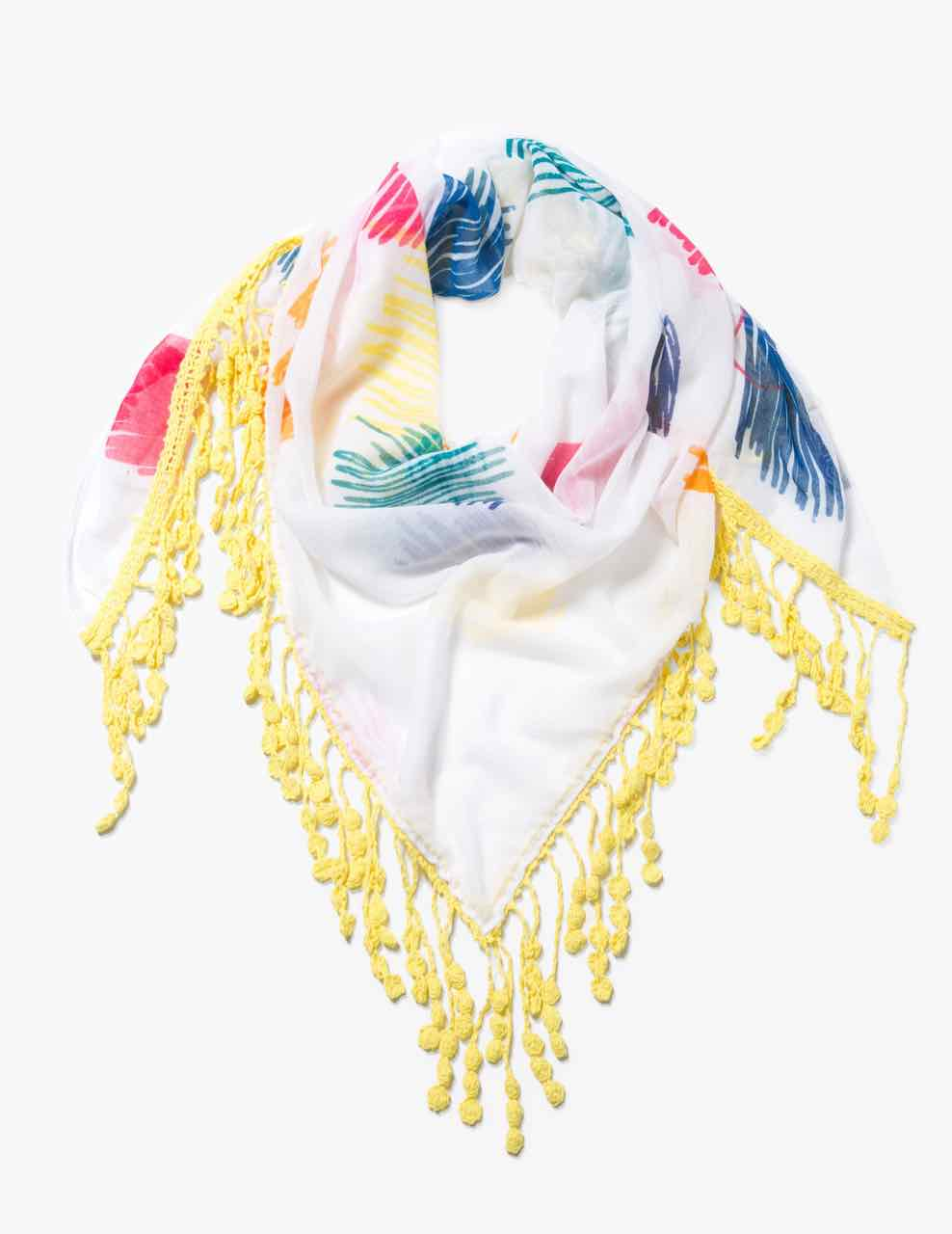 74W9EB5_1000 Desigual Scarf Triangle Dream Buy Online