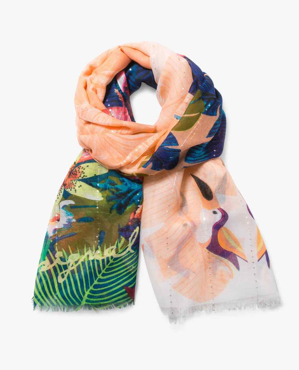 74W9EF4_7011 Desigual Scarf Tropical Fly Buy Online