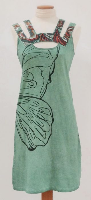 Angels Never Die Cotton Green dress