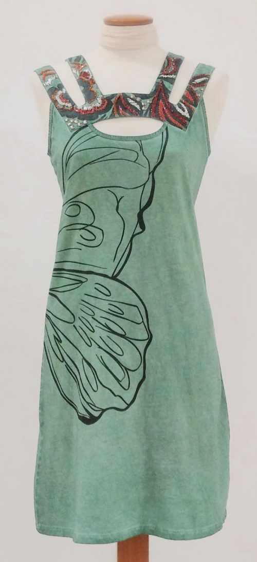 Angels Never Die Cotton Green dress