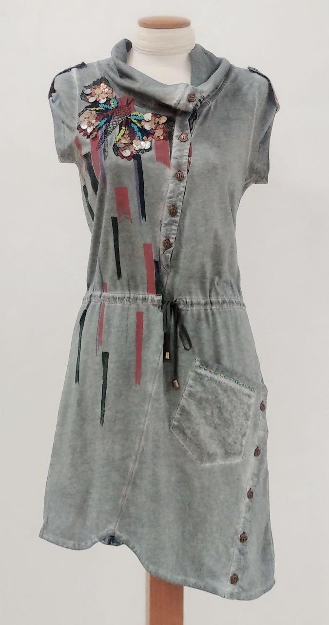 Angels Never Die Grey Summer Dress 2559 Buy Online