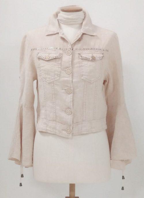Angels Never Die Linen Jacket