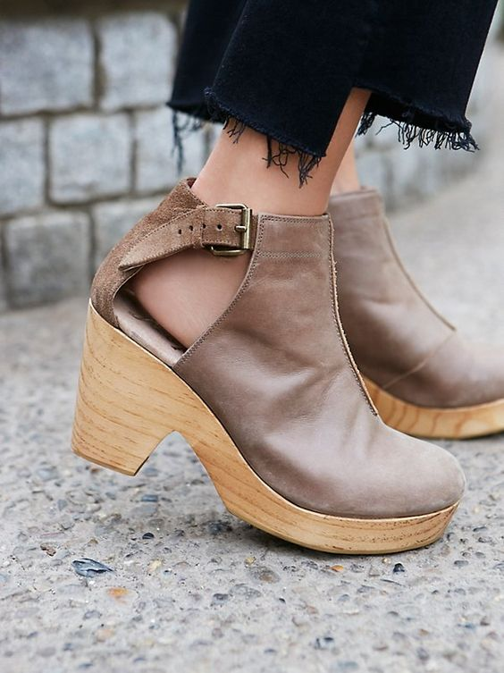 Free People Shoes Clog Amber Orchard (taupe)