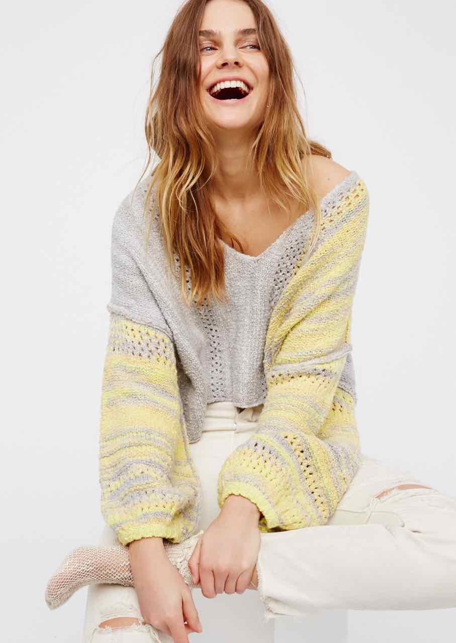 Free People Sweater Amethyst Grey, Canada
