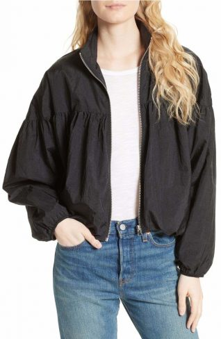 Free People Jacket Balloon Bomber, Black