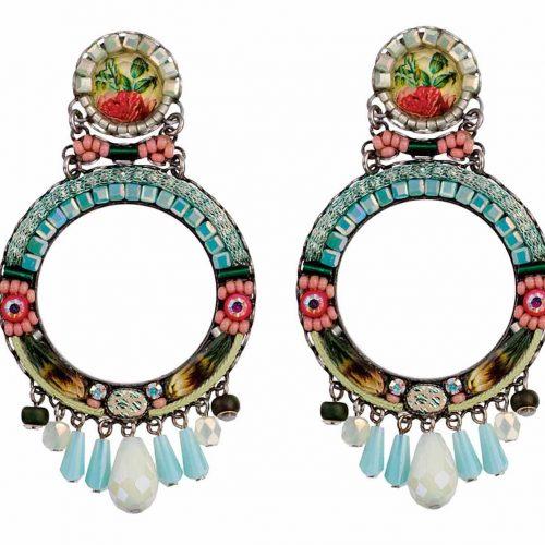 Ayala Bar Earrings Alchemilla Circle