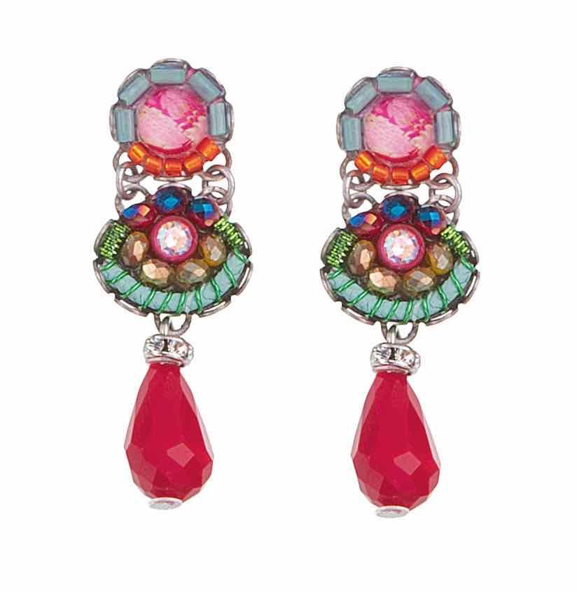 Ayala Bar Small Red Earrings