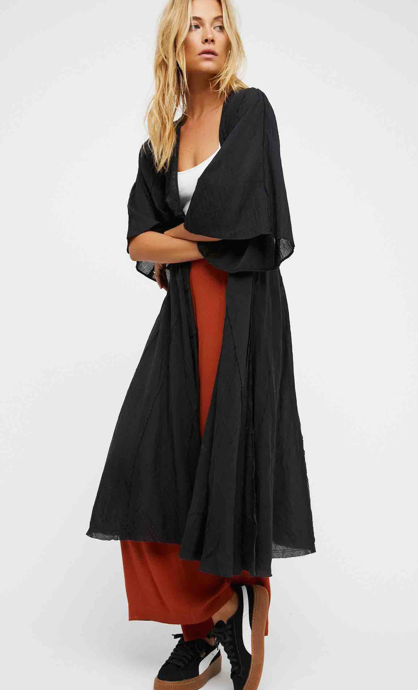 Free People Black Duster