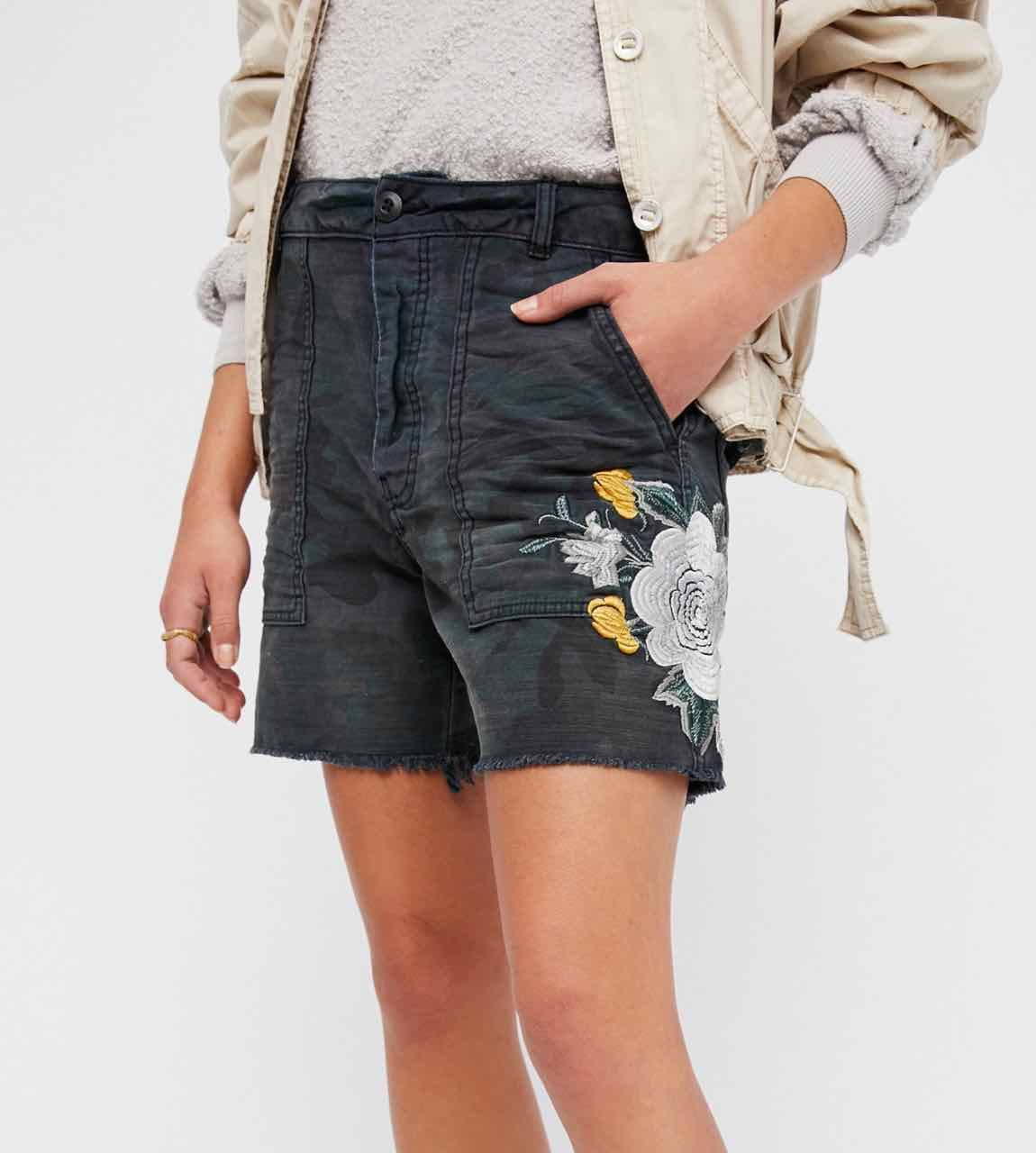 df8b3d7912 Free People Embroidered Scout Shorts OB585957 | Buy Online Canada US
