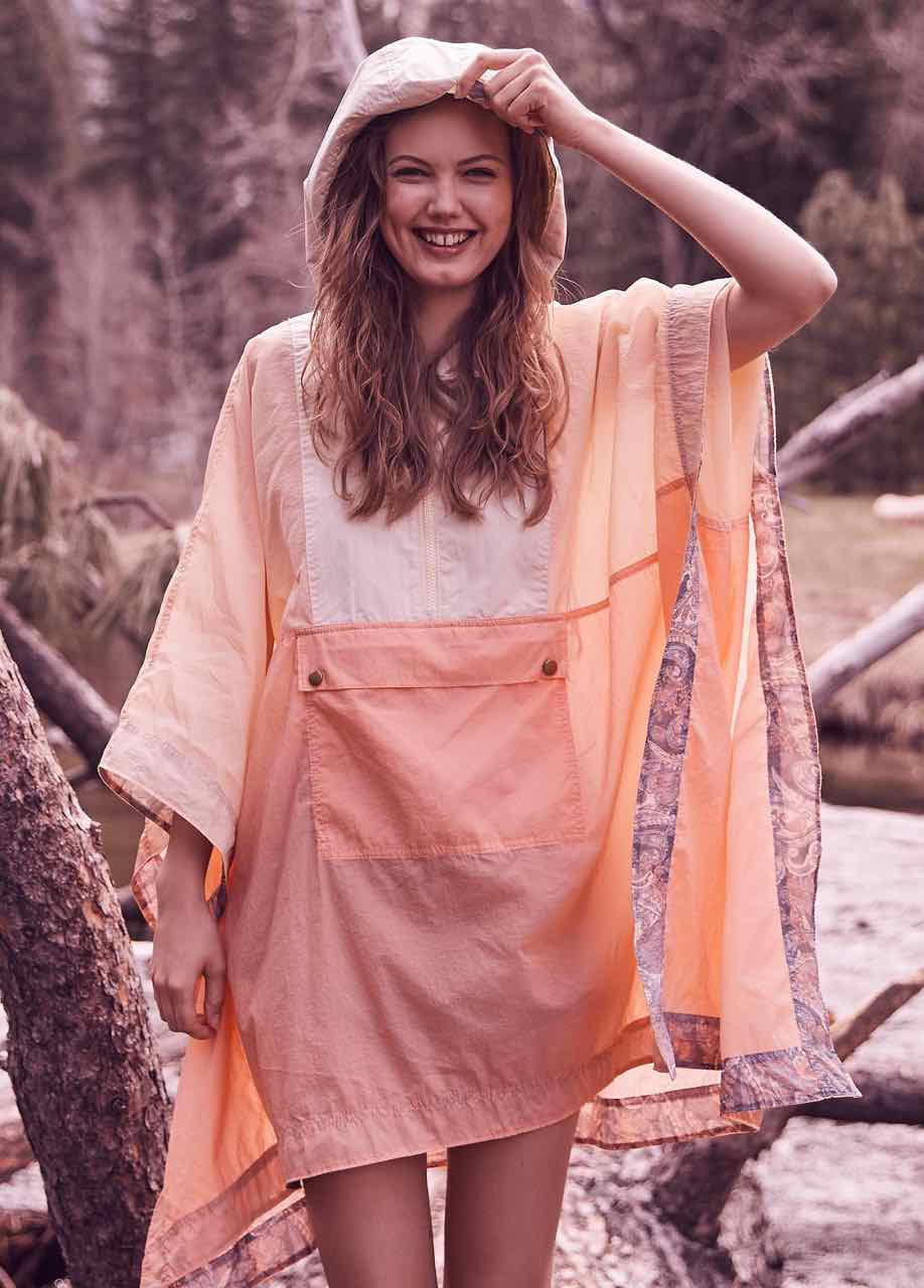 Free People Nylon Poncho, buy online