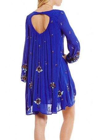 Free People Oxford Embroidered Dress Blue, Canada