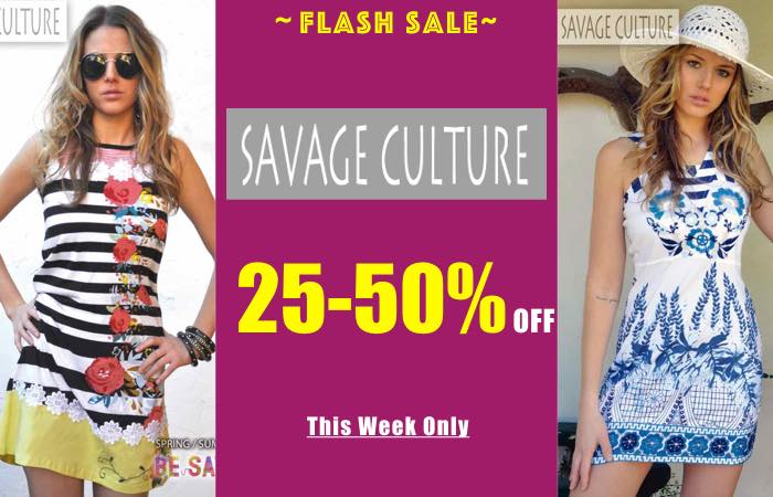 Savage Culture Flash Sale SS17