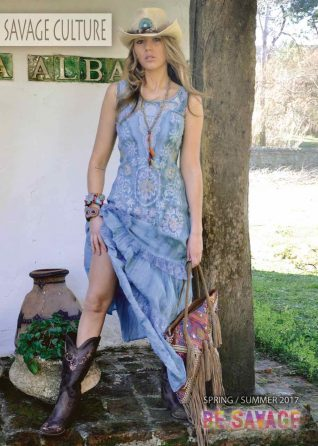 Savage Culture Blue Maxi Dress