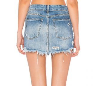 Free People WILD ROSE EMBR MINI Skirt Back