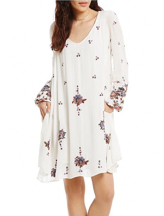 2a1040bfedaca Free People Dress Oxford Embroidered Mini White | Canada US | Buy Online