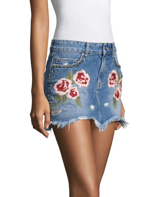 Free People Skirt Quot Wild Rose Embroidered Mini Quot Ob661210