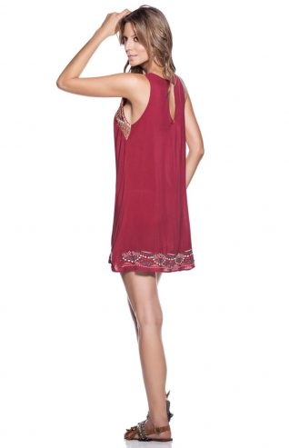 OndadeMar burgundy dress