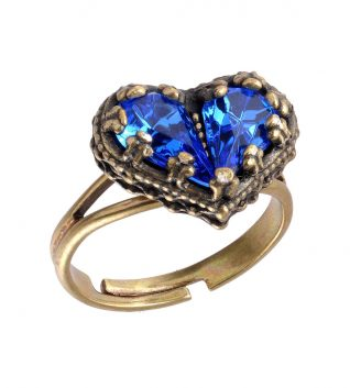 Michal negrin Blue Heart Ring
