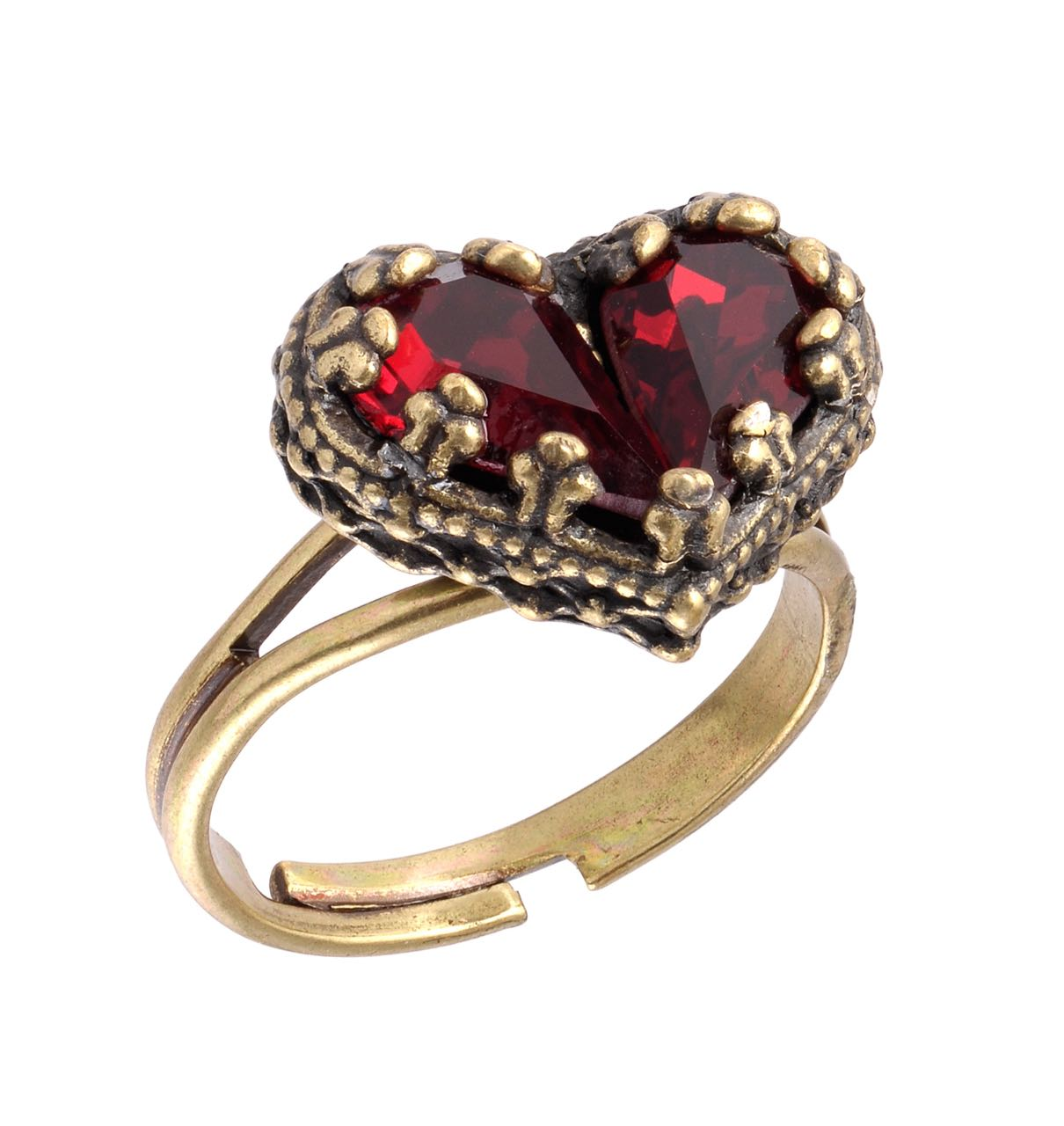 Michal Negrin Red Heart Ring