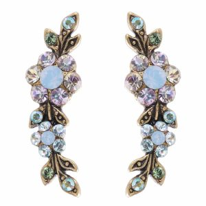 Michal Negrin Swirl Earrings blue