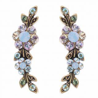 Michal Negrin Swirl Earrings blue