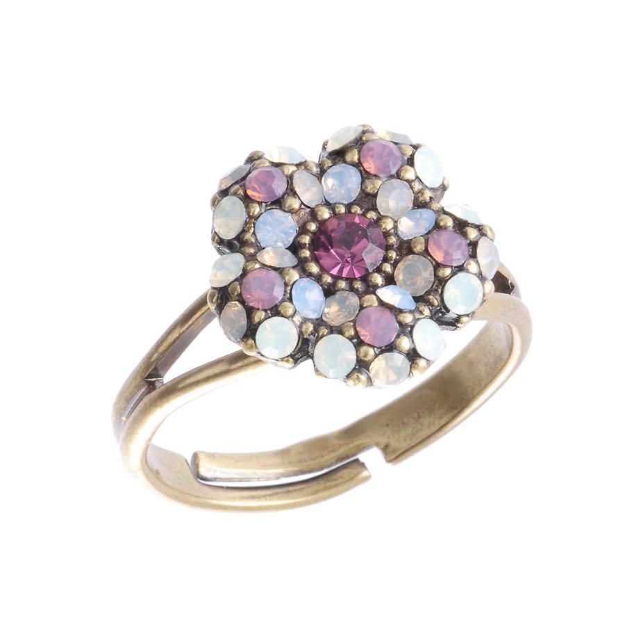 Michal Negrin Small Floral Purple Ring