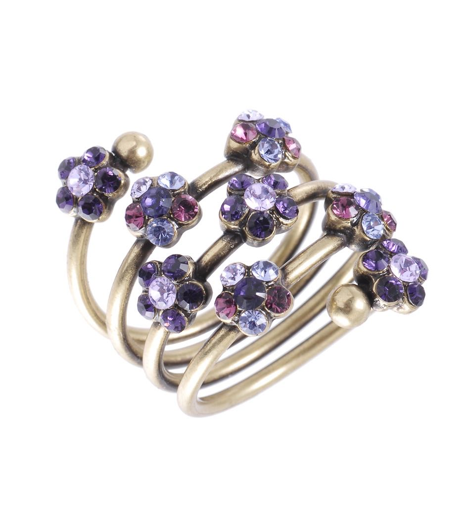 Michal Negrin Spiral Ring Purple