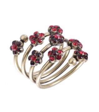 Michal Negrin Black Red Spiral Ring